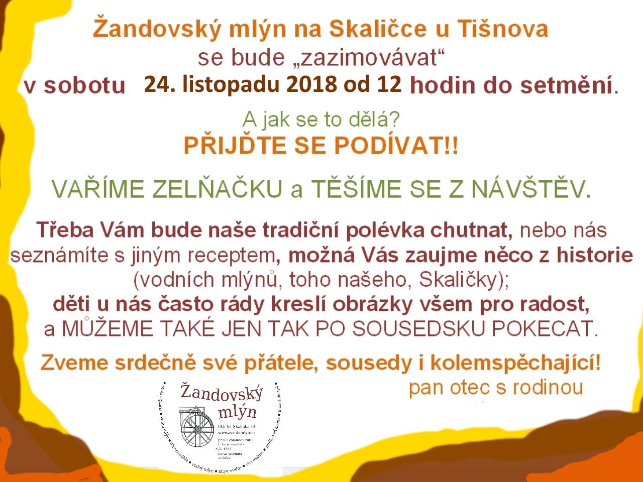 Pozvánka na 24.11.2018