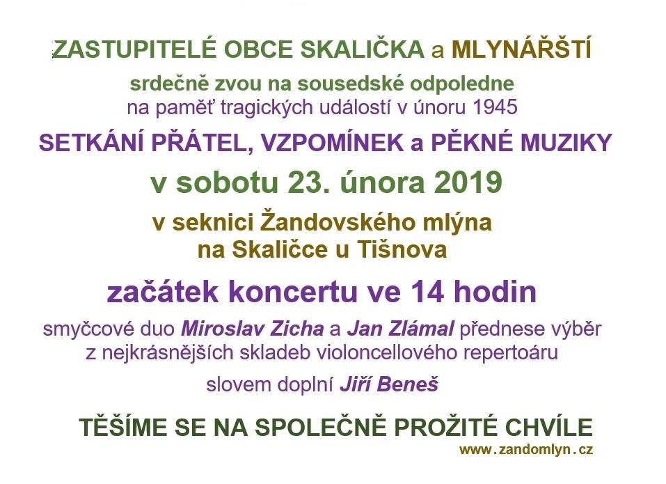 Pozvánka na 23. 2. 2019