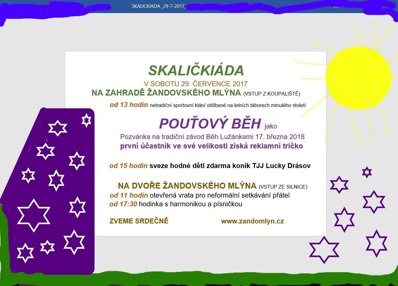 Program 6. ročníku Skaličkiády