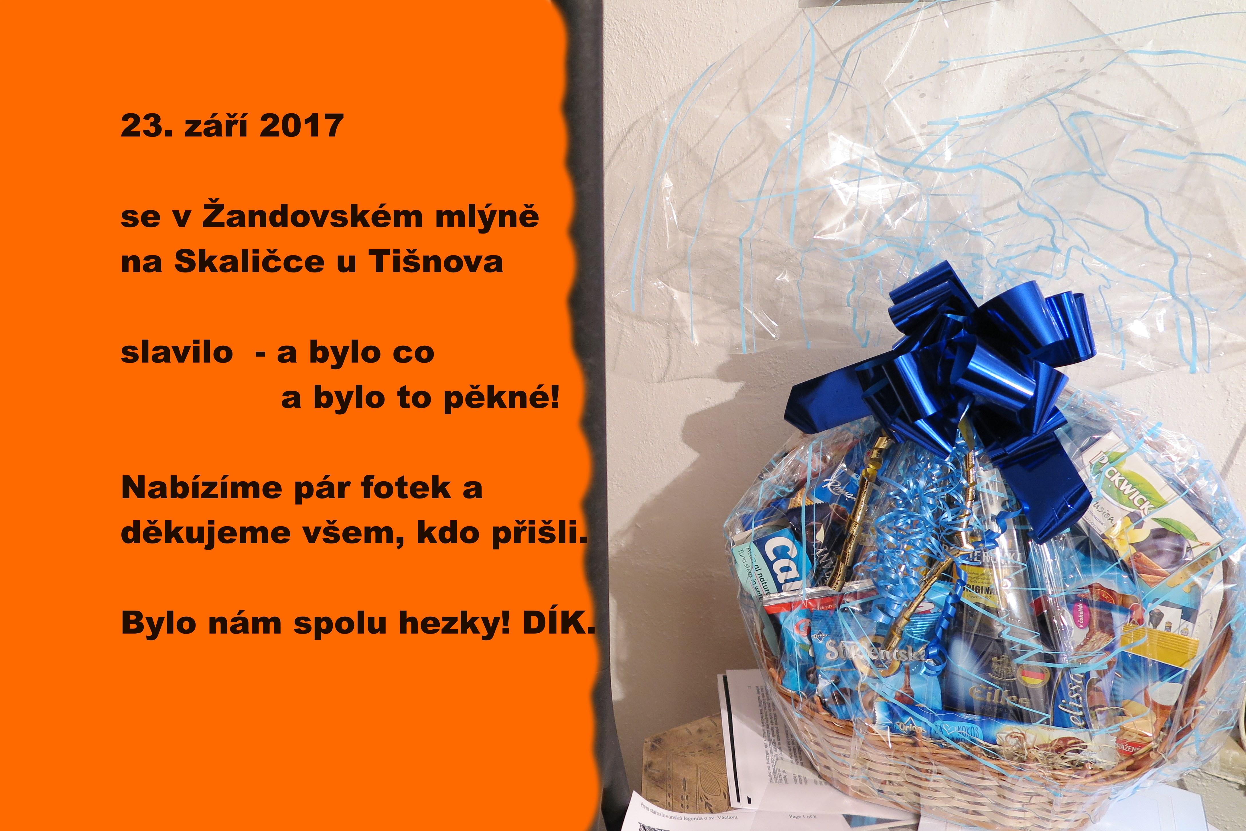 Sobota 23. 9. 2017